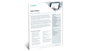 SYSPRO-ERP-software-system-sales-orders-factsheet