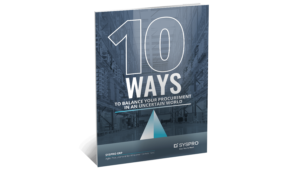 SYSPRO-ERP-software-system-Syspro-10-ways-to-balance-your-procurement-strategy-in-an-uncertain-world-brochure